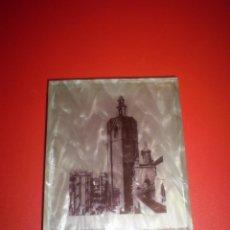Coleccionismo: PITILLERA EN METAL LATON Y MATERIAL TIPO NACAR.CON LA IMAGEN DE LA TORRE DEL MIGUELETE,(MICALET).. Lote 102263491
