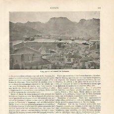 Coleccionismo - LAMINA ESPASA 10201: Vista parcial del arsenal de Cartagena - 79103022