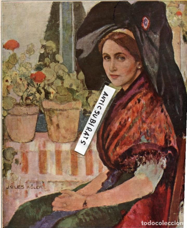 ALSACIANA JULES ADLER (Coleccionismo - Laminas, Programas y Otros Documentos)