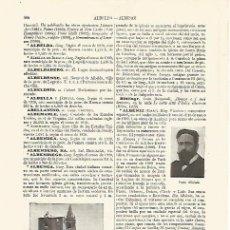Coleccionismo: LAMINA ESPASA 19023: CATEDRAL DE ALBENGA ITALIA. Lote 79618527