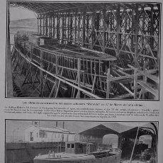 Coleccionismo - 1910-19-Cañonero Recalde dique flotante Arsenal Cartagena-Mitin frontón Jai-Alai Madrid-Muelle Gijón - 79811641