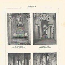 Coleccionismo: LAMINA ESPASA 16555: ESCALERAS DE EDIFICIOS DE ROMA. Lote 79970386