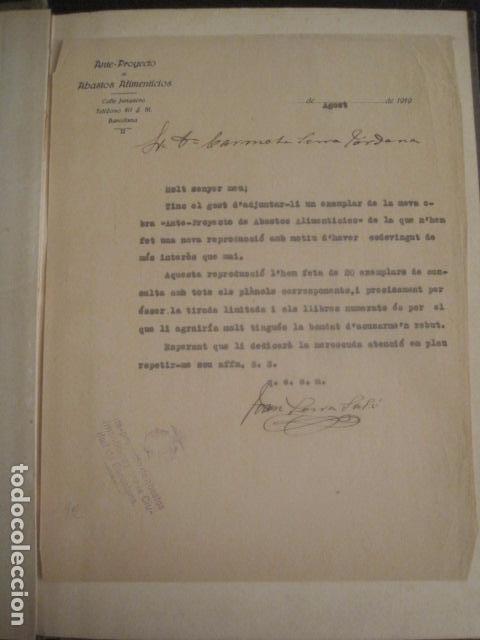 Coleccionismo: BARCELONA 1888- 1909 - PROYECTO ABASTOS ALIMENTICIOS Y LIMPIEZA- MUCHOS MAPAS - VER FOTOS - (V-9721) - Foto 10 - 80114569