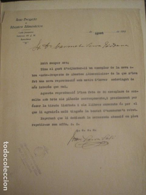 Coleccionismo: BARCELONA 1888- 1909 - PROYECTO ABASTOS ALIMENTICIOS Y LIMPIEZA- MUCHOS MAPAS - VER FOTOS - (V-9721) - Foto 11 - 80114569