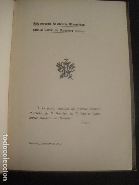 Coleccionismo: BARCELONA 1888- 1909 - PROYECTO ABASTOS ALIMENTICIOS Y LIMPIEZA- MUCHOS MAPAS - VER FOTOS - (V-9721) - Foto 16 - 80114569