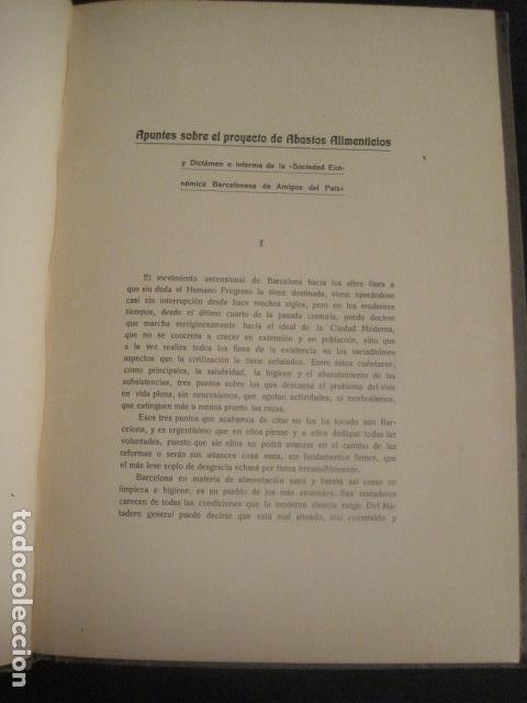 Coleccionismo: BARCELONA 1888- 1909 - PROYECTO ABASTOS ALIMENTICIOS Y LIMPIEZA- MUCHOS MAPAS - VER FOTOS - (V-9721) - Foto 17 - 80114569