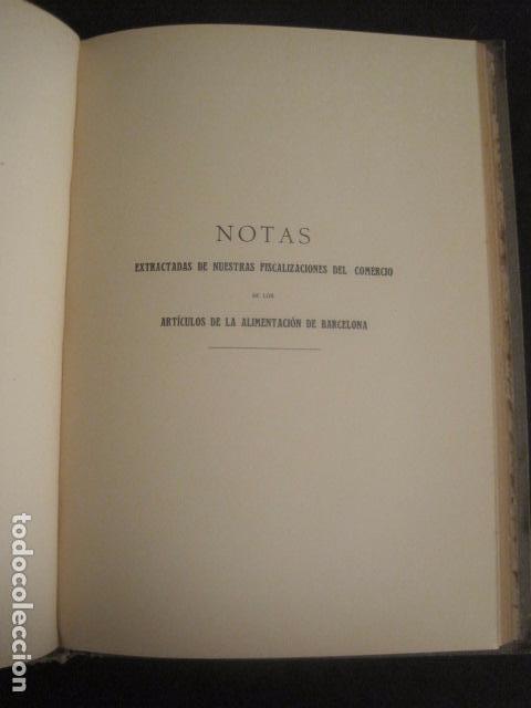 Coleccionismo: BARCELONA 1888- 1909 - PROYECTO ABASTOS ALIMENTICIOS Y LIMPIEZA- MUCHOS MAPAS - VER FOTOS - (V-9721) - Foto 18 - 80114569