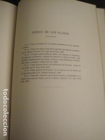 Coleccionismo: BARCELONA 1888- 1909 - PROYECTO ABASTOS ALIMENTICIOS Y LIMPIEZA- MUCHOS MAPAS - VER FOTOS - (V-9721) - Foto 25 - 80114569