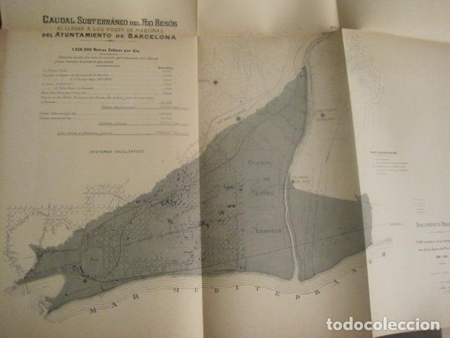Coleccionismo: BARCELONA 1888- 1909 - PROYECTO ABASTOS ALIMENTICIOS Y LIMPIEZA- MUCHOS MAPAS - VER FOTOS - (V-9721) - Foto 27 - 80114569