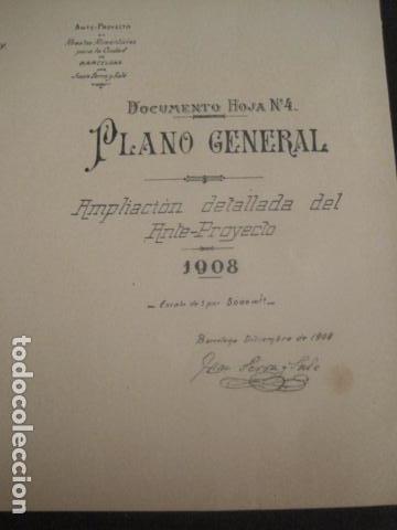 Coleccionismo: BARCELONA 1888- 1909 - PROYECTO ABASTOS ALIMENTICIOS Y LIMPIEZA- MUCHOS MAPAS - VER FOTOS - (V-9721) - Foto 31 - 80114569
