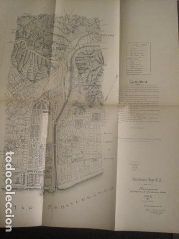 Coleccionismo: BARCELONA 1888- 1909 - PROYECTO ABASTOS ALIMENTICIOS Y LIMPIEZA- MUCHOS MAPAS - VER FOTOS - (V-9721) - Foto 33 - 80114569