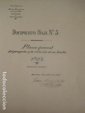 Coleccionismo: BARCELONA 1888- 1909 - PROYECTO ABASTOS ALIMENTICIOS Y LIMPIEZA- MUCHOS MAPAS - VER FOTOS - (V-9721) - Foto 34 - 80114569