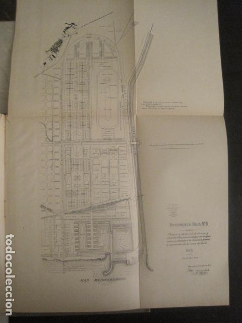 Coleccionismo: BARCELONA 1888- 1909 - PROYECTO ABASTOS ALIMENTICIOS Y LIMPIEZA- MUCHOS MAPAS - VER FOTOS - (V-9721) - Foto 36 - 80114569