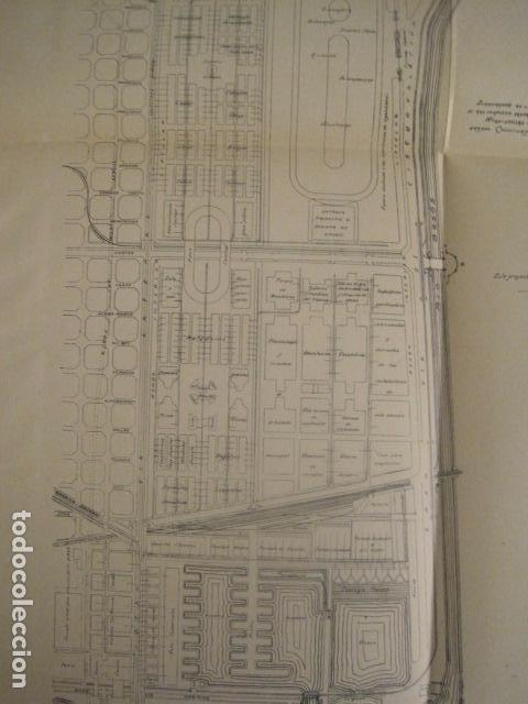 Coleccionismo: BARCELONA 1888- 1909 - PROYECTO ABASTOS ALIMENTICIOS Y LIMPIEZA- MUCHOS MAPAS - VER FOTOS - (V-9721) - Foto 37 - 80114569