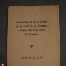 Coleccionismo: COOPERATIVA CASES BARATES PERSONAL AIGUA GAS I ELECTRICITAT - ANY 1936 -VEURE FOTOGRAFIES -(V-9834). Lote 80238209
