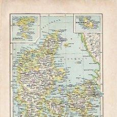 Coleccionismo: LAMINA ESPASA 5384: MAPA DE DINAMARCA. Lote 80350093