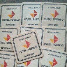 Coleccionismo: 10 POSAVASOS PUBLICIDAD HOTELES BARCELÓ. HOTEL PUEBLO. BENIDORM. AÑOS 60. Lote 80630144