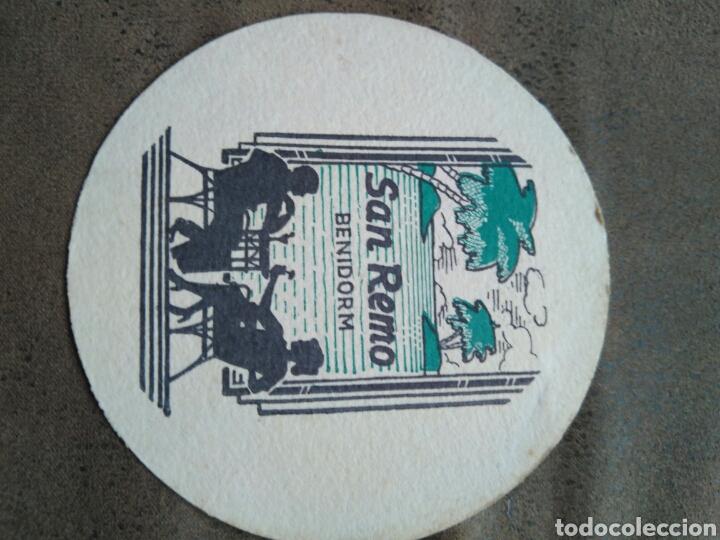 POSAVASOS SAN REMO , BENIDORM. AÑOS 60 (Coleccionismo - Varios)