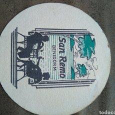 Coleccionismo: POSAVASOS SAN REMO , BENIDORM. AÑOS 60 . Lote 80637203