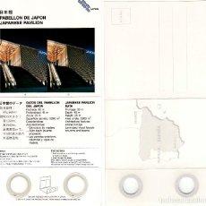 Coleccionismo: CURIOSA POSTAL ESTEREOSCÓPICA 3D PABELLÓN JAPÓN EXPO´92 SEVILLA.. Lote 80803431