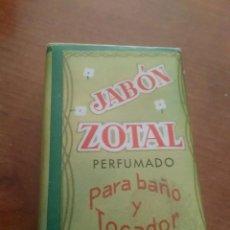 Coleccionismo: PASTILLA JABÓN DE ZOTAL PERFUMADO. Lote 89744908