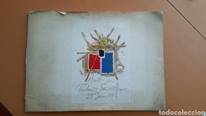 NUIT DU FAUBOURG SAINT HONORÉ . DAVID HILL 1966. (Coleccionismo - Laminas, Programas y Otros Documentos)