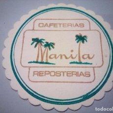 Coleccionismo: POSAVASOS MANILA. Lote 81945932