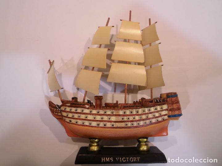 HMS VICTORY - REPLICA BARCO - PROTOTIPO ORIGINAL COLECCION BARCOS DE LA HISTORIA - (Coleccionismo - Varios)