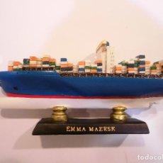 Coleccionismo: EMMA MAERSK - REPLICA BARCO - PROTOTIPO ORIGINAL COLECCION BARCOS DE LA HISTORIA -. Lote 82100268