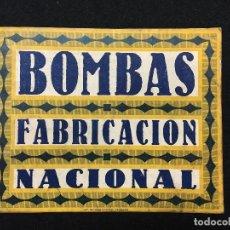 Coleccionismo: DIPTICO. BOMBAS DE FABRICACIÓN NACIONAL. ZARAGOZA. 1926.. Lote 82100416