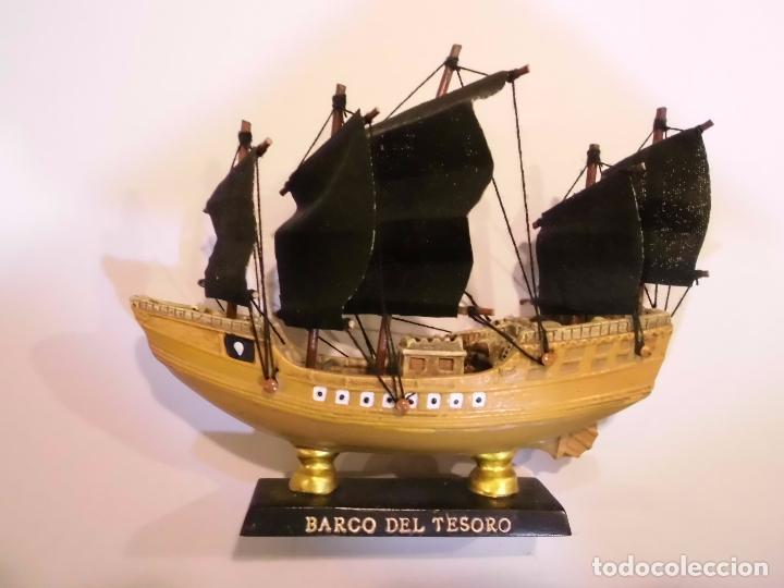 BARCO DEL TESORO - REPLICA BARCO - VELAS EN TELA - PROTOTIPO ORIGINAL COLECCION BARCOS HISTORIA (Coleccionismo - Varios)