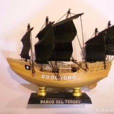 Coleccionismo: BARCO DEL TESORO - REPLICA BARCO - VELAS EN TELA - PROTOTIPO ORIGINAL COLECCION BARCOS HISTORIA . Lote 82101228