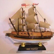 Coleccionismo: HMS BEAGLE - REPLICA BARCO - VELAS EN TELA - PROTOTIPO ORIGINAL COLECCION BARCOS HISTORIA . Lote 82101372