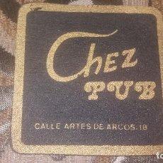 Coleccionismo: POSAVASO ANTIGUO DE COLECCIÓN BAR RESTAURANTE CAFETERÍA POSAVASOS ALMERIA PUP CHEZ. Lote 82231240