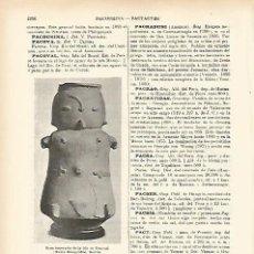 Coleccionismo: LAMINA ESPASA 7742: URNA FUNERARIA DE LA ISLA DE PACOVAL BRASIL. Lote 82511490