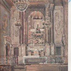 Coleccionismo: GOIGS MARE DE DEU CLAUSTRE CATEDRAL TARRAGONA 1986 DIPTIC I AQUAREL-LA DE JOAN B. PLANA PUJOL FOTO . Lote 82866916