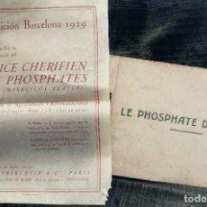 Coleccionismo: EXPOSICIÓN INTERNACIONAL.BARCELONA 1929.ANTIGUO ALBUM LE PHOSPHATE DU MAROC.FOTOS MAQUINARIA.TRENES. Lote 83028396