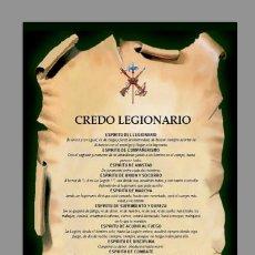 Coleccionismo: AZULEJO 40X25 DEL CREDO LEGIONARIO. Lote 83127788