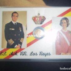 Coleccionismo: SS.AA.RR.LOS REYES.CON MONEDITA.PLASTIFICADA.. Lote 84777888