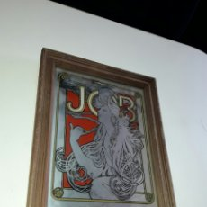 Coleccionismo: PRECIOSO ESPEJO VINTAGE PUBLICITARIO ART DECO MARCA JOB CIGARETTES. Lote 85220570