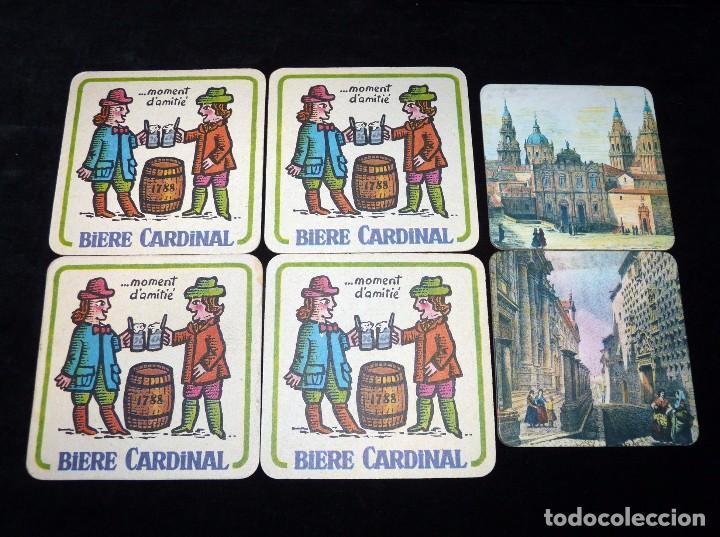 LOTE DE 6 POSAVASOS DE CARTÓN. BIERE CARDINAL Y SERIE VISTAS ANTIGUAS DE ESPAÑA. AÑOS 60 (Coleccionismo - Varios)
