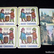 Coleccionismo: LOTE DE 6 POSAVASOS DE CARTÓN. BIERE CARDINAL Y SERIE VISTAS ANTIGUAS DE ESPAÑA. AÑOS 60. Lote 85346524