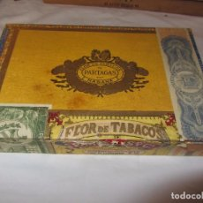 Coleccionismo: CAJA DE PUROS FLOR DE TABACOS PARTAGAS - INCOMPLETA -. Lote 86217552