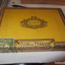 Coleccionismo: CAJA DE PUROS FLOR DE TABACOS PARTAGAS - INCOMPLETA -. Lote 86217940