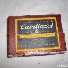 Coleccionismo: CAJA DE MEDICAMENTO CARCIDOL SEIS AMPOLLAS DE 1,1 C.C.. Lote 86231672