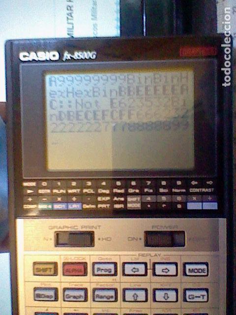 Coleccionismo: calculadora casio cientifica FX 8500G funcionando leer y fotos - Foto 10 - 105831142