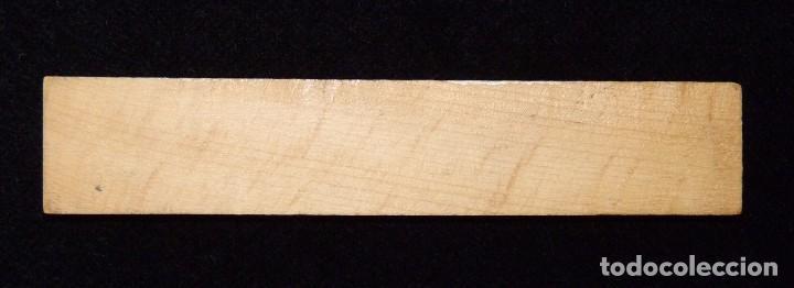 Coleccionismo: ANTIGUA REGLA MADERA PUBLICIDAD MATERIAL LABORATORIO CASA TORRECILLA SUCURSAL VALENCIA. AÑOS 50 - Foto 2 - 86812740
