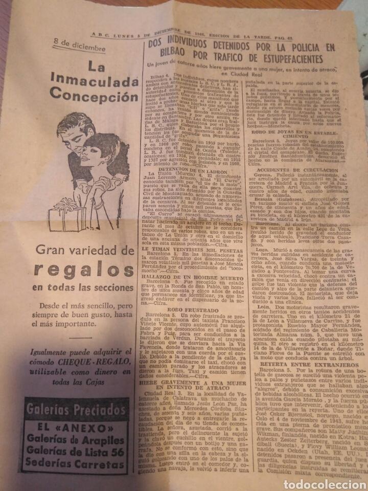 hoja diario abc 1966- publicidad galerías preci - Comprar Documentos ...