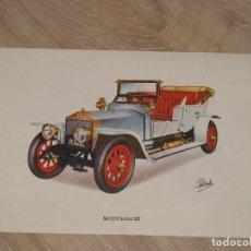 Coleccionismo - LAMINA DE COCHE ANTIGUO. ROLLS-ROYSE SILVER GHOST 1909. 40 x 24 cm. - 87187308