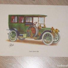 Coleccionismo - LAMINA DE COCHE ANTIGUO. PACKARD LIMOUSINE 1908. 40 x 24 cm. - 87187388